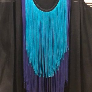 Twelfth Street by Cynthia Vincent Dresses - Black dress with colorful fringe
